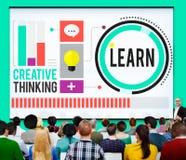 Leer de Ideeën Creatief Concept van de Onderwijskennis Royalty-vrije Stock Afbeelding