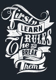 Leer de regels Stock Foto's