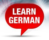 Leer Duitse Rode Bellenachtergrond stock afbeeldingen