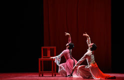 """Leer een artistieke vaardigheid - Dansdrama""""mei Lanfang† Royalty-vrije Stock Afbeelding"""