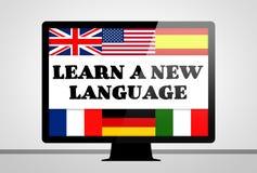 Leer een nieuwe taal stock illustratie