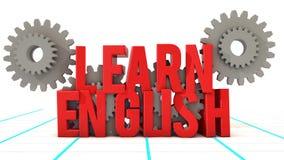 Leer het Engels en tandwiel Royalty-vrije Stock Afbeelding