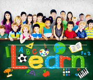 Leer het Leren het Concept van het de Schoolkind van de Studiekennis royalty-vrije stock foto