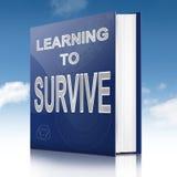 Leer om concept te overleven. Stock Foto