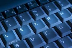 Leer sleutels Stock Foto