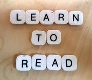 Leer te lezen Stock Afbeeldingen