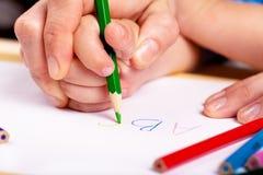 Leer te schrijven Stock Foto's