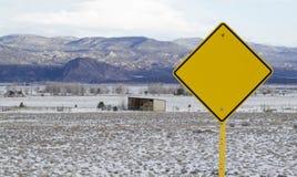 Leer unterzeichnen Sie herein ländliches Tal Lizenzfreies Stockbild