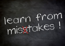 Leer van fouten stock foto