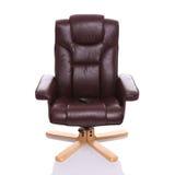 Leer verwarmde recliner stoel Stock Foto