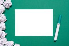 Leerbeleg und Markierung lizenzfreie stockbilder
