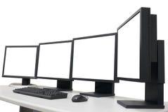 Leere Überwachungsgeräte Stockfoto