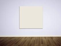 Leere Abbildung auf der unbelegten Wand Lizenzfreie Stockfotografie
