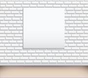 Leere Abbildung der Kunstgalerie auf der Wand lizenzfreie abbildung