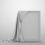 Leere Abbildung umfaßt mit einem Tuch Stockfotografie