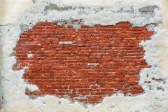 Leere alte Backsteinmauer-Beschaffenheit Stockfoto