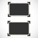 Leere alte Fotorahmen und -ecken Lizenzfreie Stockfotografie