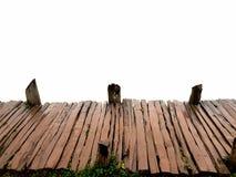 Leere alte hölzerne Brücke auf Draufsicht Lizenzfreies Stockbild