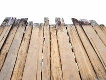 Leere alte hölzerne Brücke auf Draufsicht Lizenzfreie Stockbilder