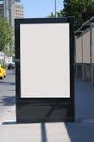 Leere Anschlagtafel draußen, Werbung im Freien Stockfotografie