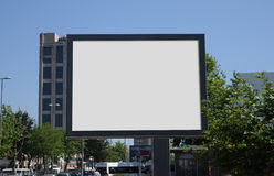 Leere Anschlagtafel draußen, Werbung im Freien Lizenzfreies Stockfoto