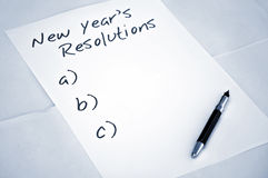 Leere Auflösungen des neuen Jahres lizenzfreie stockbilder