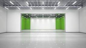 Leere Ausstellunghalle lizenzfreie stockfotos
