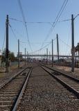 Leere Bahngleise Stockbilder