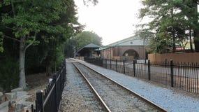 Leere Bahnstation Lizenzfreies Stockbild