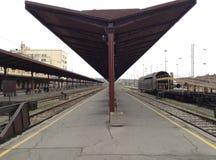 Leere Bahnstation Stockfotografie