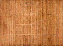 Leere Bambustabellen-Matte Stockbild