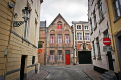 Leere belgische Straßen Stockbild
