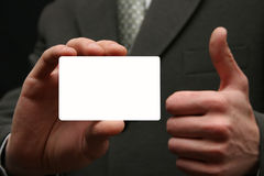 Leere Besuchskarte Lizenzfreie Stockfotografie