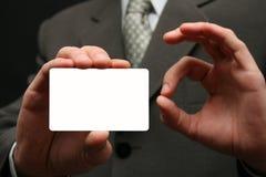 Leere Besuchskarte Lizenzfreie Stockfotos