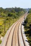 Leere bidirektionale Eisenbahn Lizenzfreies Stockfoto