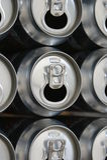 Leere Bier-Dosen lizenzfreie stockfotografie