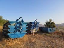 Leere blaue Erbauersprünge Lizenzfreie Stockbilder