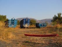 Leere blaue Erbauersprünge Stockbilder
