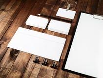 Leere Briefpapierschablone Lizenzfreies Stockbild