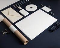 Leere Briefpapierschablone lizenzfreies stockfoto