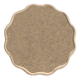 Leere Bronzemünze Stockfoto