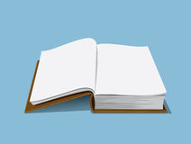 Leere Buchabbildung Stockbild