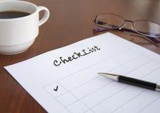 Leere Checkliste lizenzfreie stockbilder
