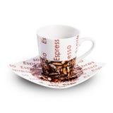 Leere coffe Schale lokalisiert auf weißem Hintergrund Lizenzfreie Stockfotografie