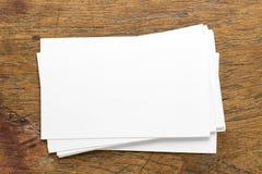 Leere Draufsicht Namecard Stockfotos