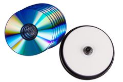Leere Druck-DVD-Disketten Stockfotografie