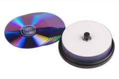 Leere Druck-DVD-Disketten Lizenzfreie Stockfotos
