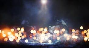 Leere Dunkelkammerszene Unschärfe bokeh Lichter lizenzfreies stockfoto