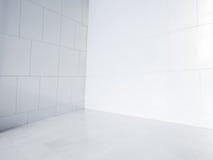 Leere Ecke mit weißen Fliesen vektor abbildung