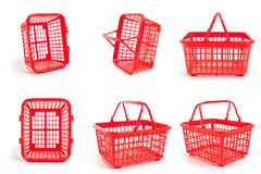 Leere Einkaufskörbe Lizenzfreies Stockfoto